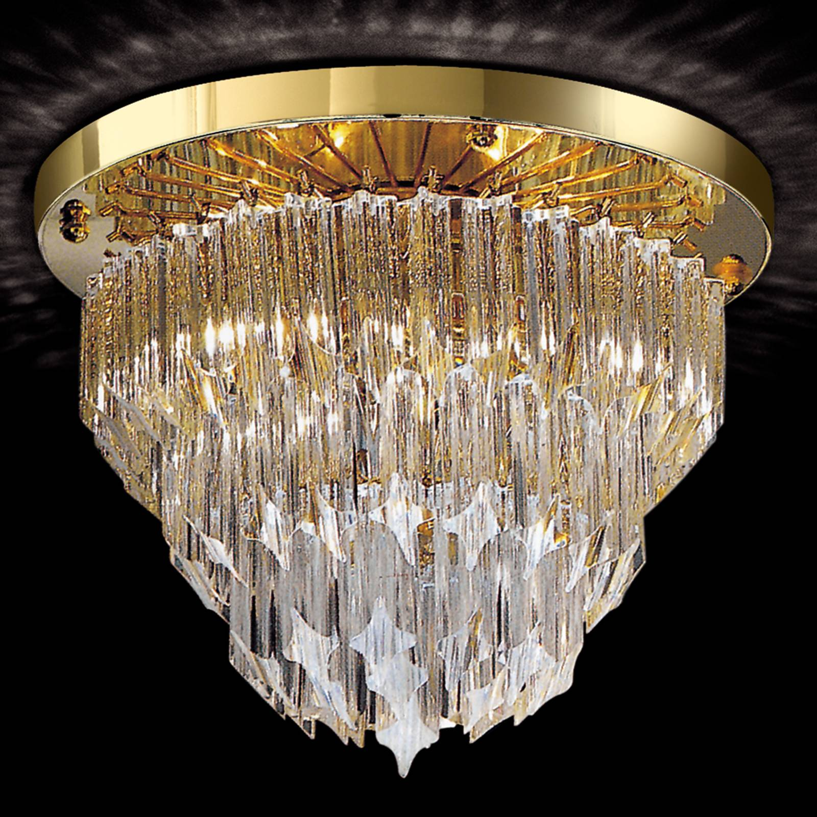Round ceiling light Archimede gold-plated from Novaresi