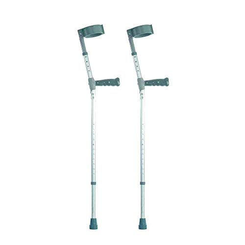 Double Adjustable Crutches with PVC Handle - Extra Long - Pair (Eligible for VAT Relief in The UK) from NRS Healthcare