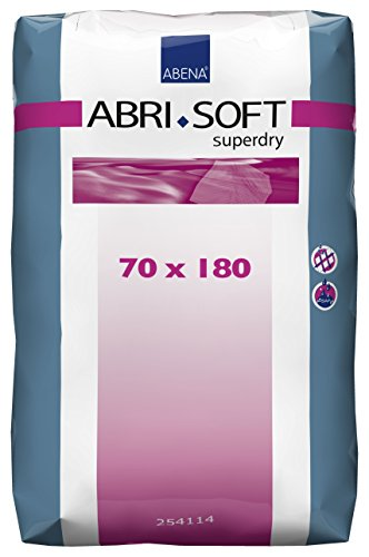 NRS Abena Abri-Soft Superdry Disposable Bed Pads 1800 x 700mm - Tuck in Flaps (Eligible for VAT relief in the UK) from NRS Healthcare
