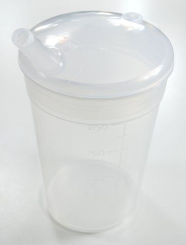 NRS Feeding Cup Beaker and Lid with Narrow Spout (Eligible for VAT relief in the UK) from NRS Healthcare