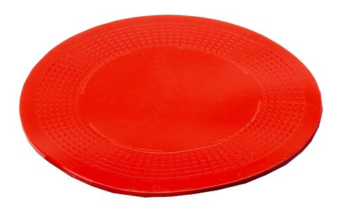 NRS Healthcare Dycem Non-Slip Circular Mat, Red, 14 cm (5.5 Inch) Diameter (Eligible for VAT Relief in The UK) from NRS Healthcare