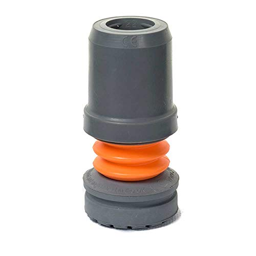 NRS Healthcare Flexyfoot Shock Absorbing Ferrule, Grey, 22 mm (Eligible for VAT relief in the UK) from NRS Healthcare