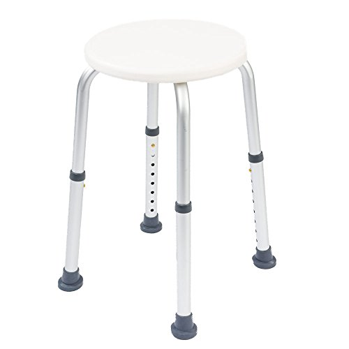 NRS Healthcare Round Shower Stool L97718 Height Adjustable (Eligible for VAT relief in the UK) from NRS Healthcare