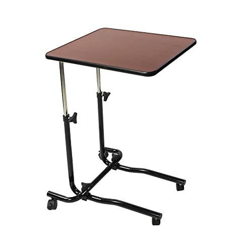 NRS Healthcare M15691 Portable Overbed/Chair Table - Tilting, Adjustable & Wheeled from NRS Healthcare