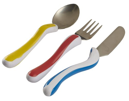 NRS Healthcare M80282 Kura Care Easy Grip Children's Cutlery - Knife, Fork and Spoon Set (Eligible for VAT Relief in The UK) from NRS Healthcare