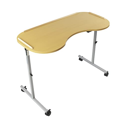 NRS Healthcare M99394 Adjustable Curved Over Bed/Chair Table with Lockable Castors from NRS Healthcare