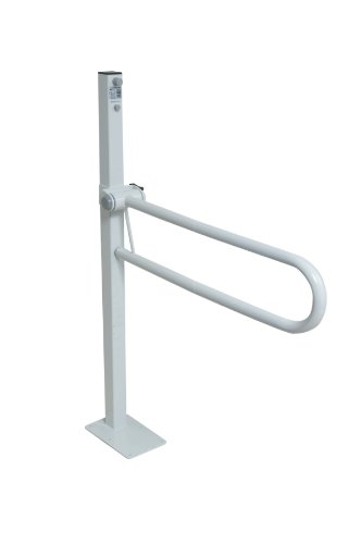 NRS Healthcare Standard Floor Fixed Folding Support Rail 76 cm Length (Eligible for VAT Relief in The UK) from NRS Healthcare