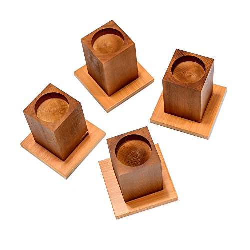 "NRS Wooden Cube Style Bed Raisers, 10cm (4"") Height (Eligible for VAT relief in the UK) from NRS Healthcare"
