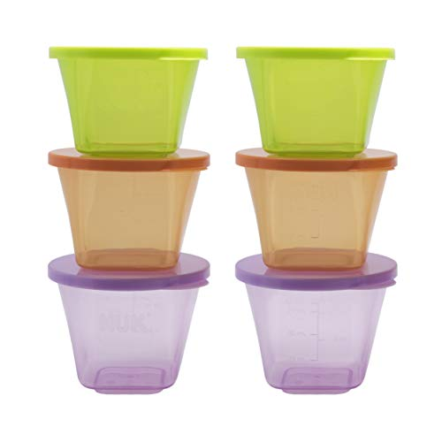 Annabel Karmel by NUK Baby Food Storage Containers, Stackable, Microwave & Freezer Safe, 6 Count from NUK