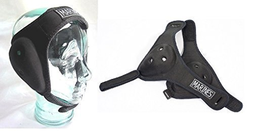 Nws Wrestling ear guards bjj.jiu jitsu,MMA,Grappling Ear head Protection With Adjustable Straps, Boxing UFC Rugby Gear Size Senior from Nws
