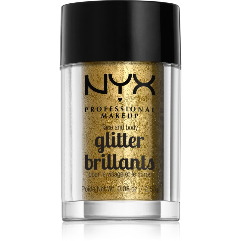 NYX Professional Makeup Glitter Goals Face and body glitter Shade 05 Gold 2,5 g from NYX Professional Makeup
