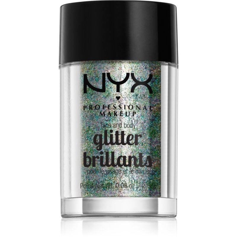 NYX Professional Makeup Glitter Goals Face and body glitter Shade 06 Crystal 2,5 g from NYX Professional Makeup
