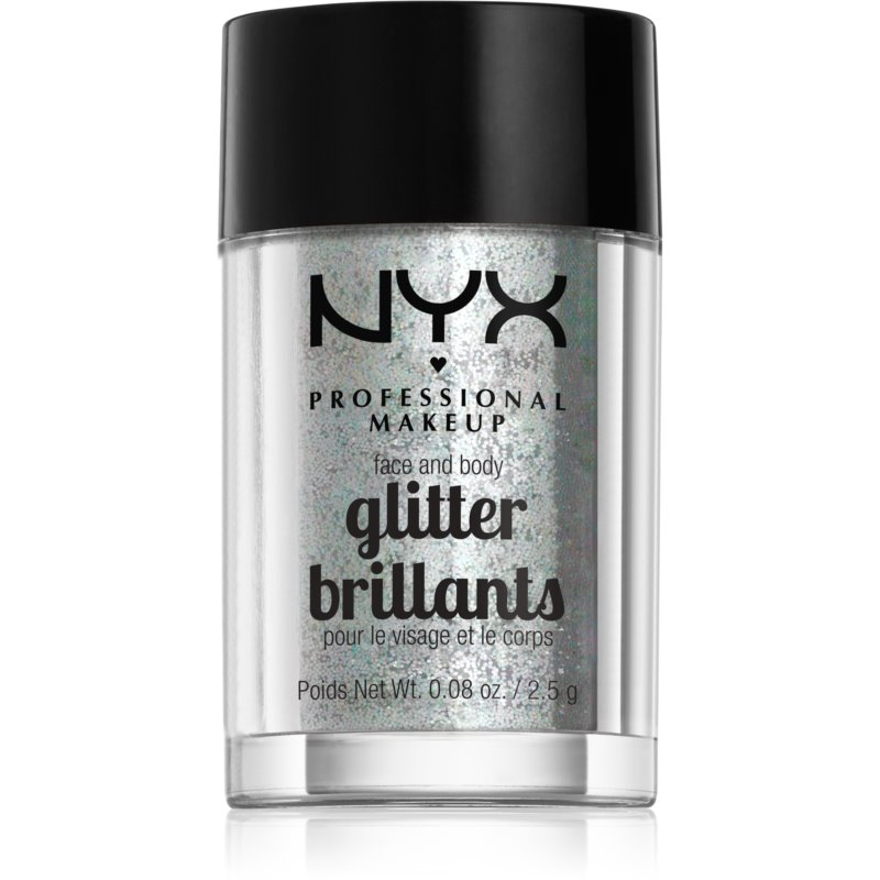 NYX Professional Makeup Glitter Goals Face and body glitter Shade 07 Ice 2,5 g from NYX Professional Makeup