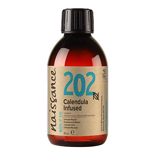 Naissance Calendula Infused Oil (#202) 250ml - Pure, Natural and Infused in Sunflower Oil - Moisturises Skin, Hands & Feet. Ideal for DIY Beauty Recipes from Naissance