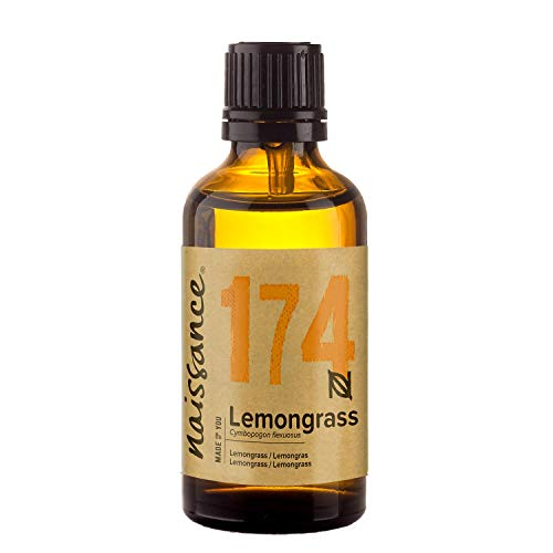 Naissance Lemongrass (Flexuosus) Essential Oil 50ml - Pure, Natural, Steam Distilled, Cruelty Free, Vegan & Undiluted - Use in Massage Blend & Diffusers - Revitalising and Uplifting Aroma to Stimulate Your Senses this Spring from Naissance