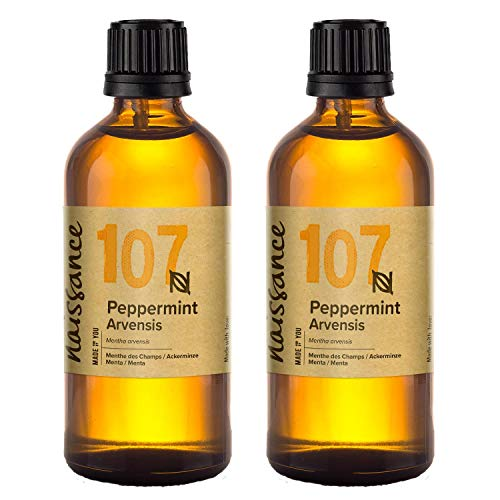 Naissance Peppermint (Arvensis) Essential Oil 200ml (2 x 100ml) - Pure, Natural, Cruelty Free, Vegan and Undiluted - for Use in Aromatherapy, Massage Blend & Diffusers - a Sweet Fresh Aroma from Naissance