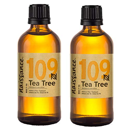 Naissance Tea Tree Essential Oil 200ml (2x100ml) - Pure, Natural, Cruelty Free, Vegan & Undiluted - Use in Aromatherapy, Massage Blend & Diffusers - Energising & Invigorating Aroma for Your Springtime Aromatherapy Needs from naissance