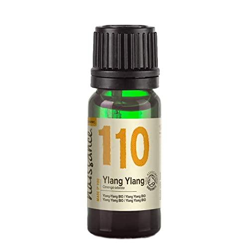 Naissance Organic Ylang Ylang Essential Oil 10ml - Pure, Natural, Certified Organic, Vegan, Cruelty Free, Cold Pressed and Undiluted - Use in Massage Blend & Diffusers - Soothing and Relaxing Springtime Aroma from Naissance