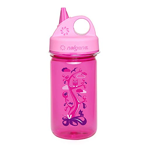 Nalgene Unisex's Kunststoffflasche Everyday Grip-n-Gulp Water Bottle, Pink, 12-ounce from Nalgene