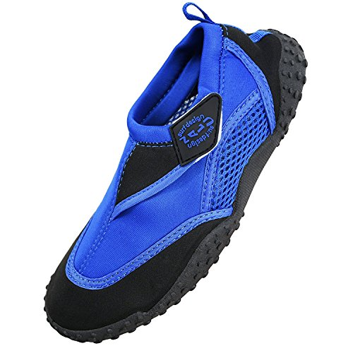 Nalu Velcro Aqua Surf / Beach / Wetsuit Shoes,Blue with Black Trim,UK 6 from Nalu