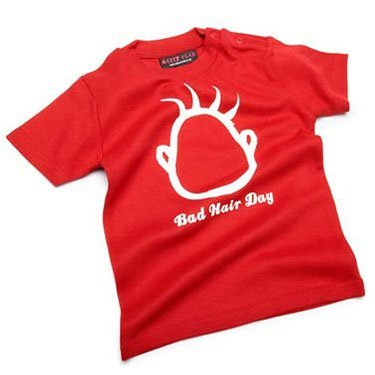 Bad Hair Day Funny baby Pink t-shirt,18-24 months from Nappy Head