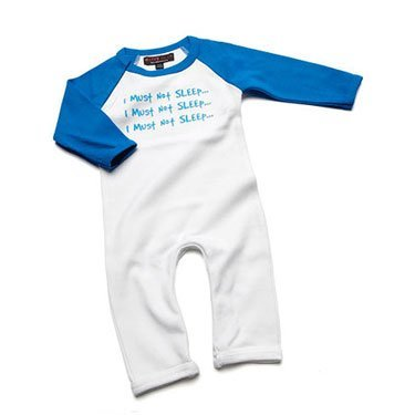 I Must Not Sleep Blue Romper Suit/Babygrow 0-3 months from Nappy Head