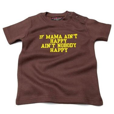 If mama ain't happy Punky Pink T-shirt ,0-6 months from Nappy Head