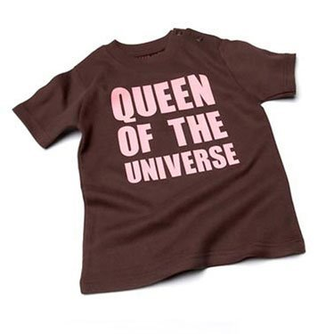 Queen of the universe Chocolate Baby T-shirt,12-18 months from Nappy Head