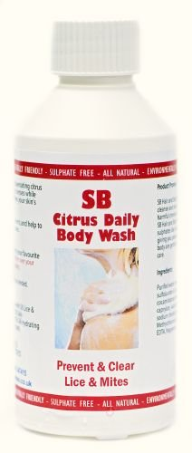 SB Body Wash 250ml Prevent & Clear Lice & Mites from Natural Enzymes