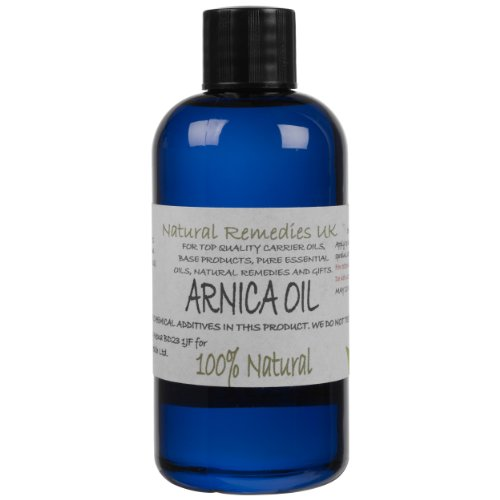 Natural Arnica Oil (Heterotheca inuloides) 100ml: Ready to apply, Rub on Unscented Massage & Carrier Oil from Natural Remedies UK