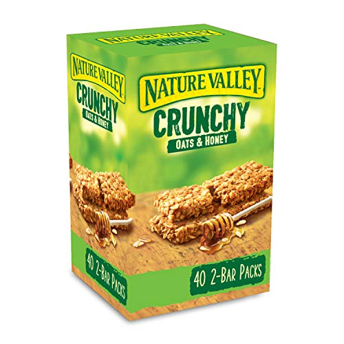 Nature Valley Crunchy Granola Bars Oats 'n' Honey 40 Pack 2 Bars Per Pack from Nature Valley