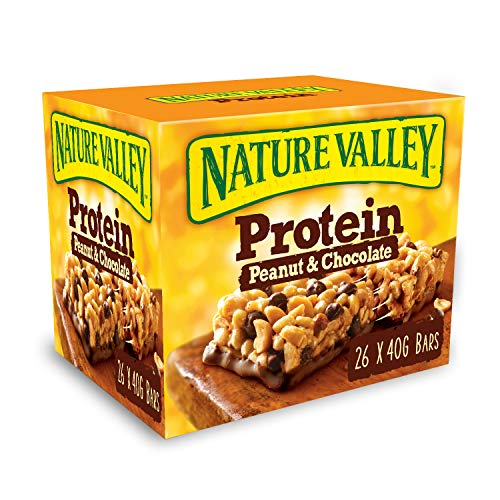 Nature Valley Protein Peanut & Chocolate Gluten Free Cereal Bars 40g (Pack of 26 Bars) from Nature Valley