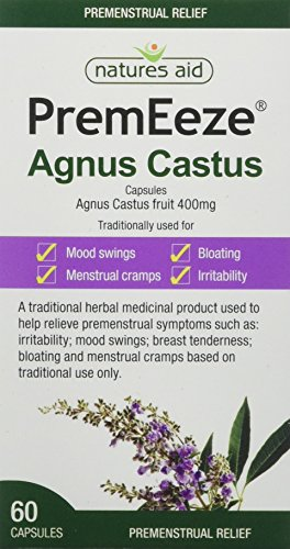 Natures Aid PremEeze Agnus Castus, Relief of Premenstrual Symptoms (PMS), Vegan, 60 Capsules from Natures Aid