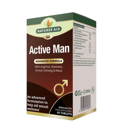 natures aid Active Man Tablets - Pack of 60 Tablets from Natures Aid