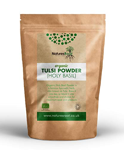 Nature's Root Organic Tulsi Powder 250g - Holy Basil | Natural Superfood Supplement | Hair Growth | Itchy Scalp from Natures Root