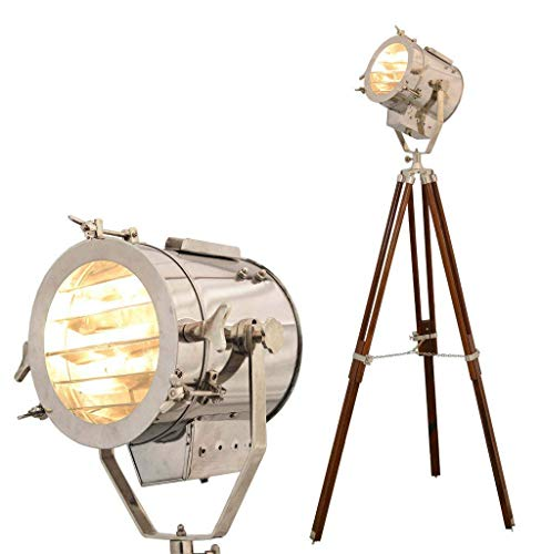Nautical Searchlight Antique Vintage Style Wooden Tripod Floor Lamp By Nauticalmart from Nautical.Mart