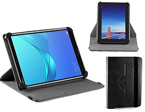 Navitech Black Leather Case Cover With 360 Rotational Stand Compatible With The Kivors Tablet 3G 9.6 Inch from Navitech