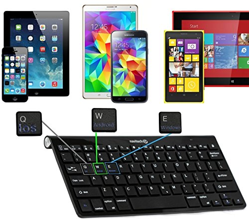 Navitech Black Wireless Bluetooth Multi OS Keyboard Compatible With All Android/Windows & IOS Tablets Including The Acer A3-A30-17PS Tablet 10 Inch from Navitech