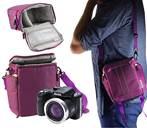Navitech Purple Digital Camera Carrying Case and Travel Bag Compatible With The Kodak Pixpro AZ421