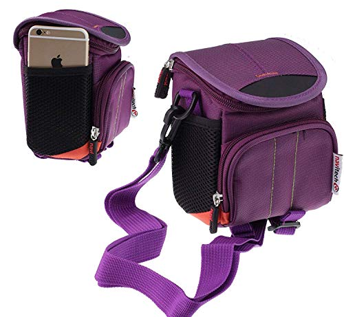 Navitech Purple Digital Camera Case Bag Cover Compatible With The Kodak PIXPRO AZ421