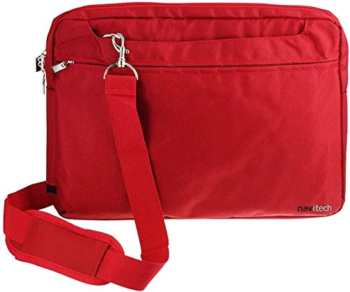 Navitech Red Sleek Premium Water Resistant Shock Absorbent Carry Bag Case Compatible With The Zaith 10.1 Inch Android Tablet from Navitech