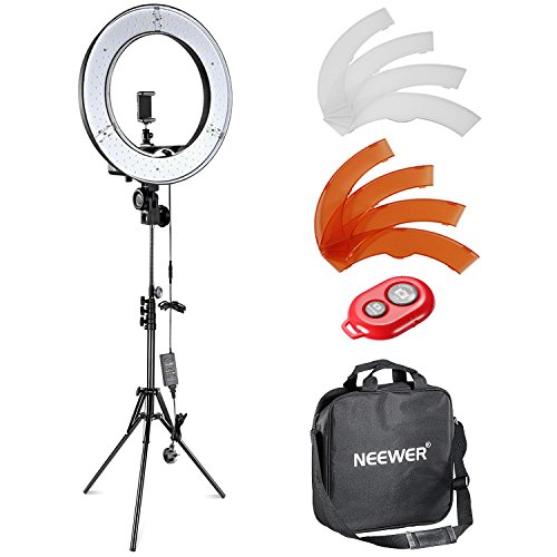 Neewer 12-inch Inner/14-inch Outer LED Ring Light and Light Stand 36W 5500K Lighting Kit with Soft Tube,Color Filter,Hot Shoe Adapter,Bluetooth Receiver for Camera Smartphone Youtube Video Shooting from Neewer