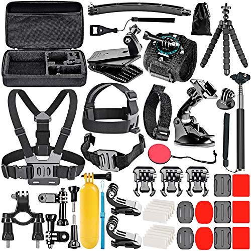 Neewer 50-In-1 Accessory Kit for GoPro Hero 7 6 5 4 3+ 3 2 1 Hero Session 5 Black AKASO EK7000 Apeman SJ4000 5000 6000 DBPOWER AKASO from Neewer