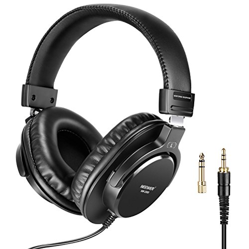 Neewer Studio Monitor Headphones - Dynamic Rotatable Headsets with 40mm Loudhailer Driver, 3 meters Cable, 6.35mm Plug Adapter for PC, Cell Phones, TV (NW-2000) from Neewer