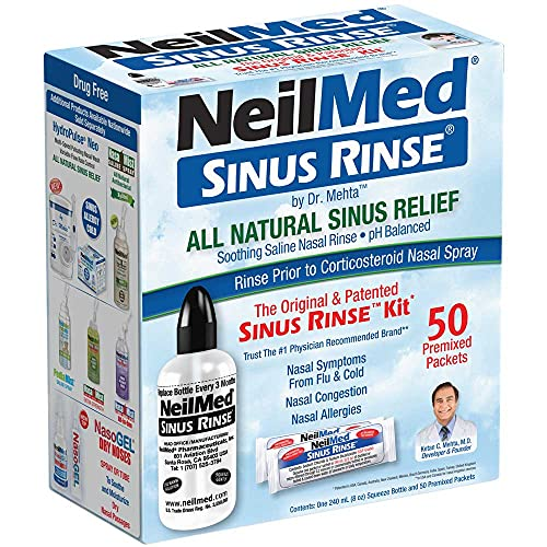 NeilMed Original Sinus Rinse Kit with 60 Premixed Sachets from NeilMed