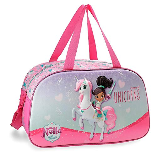 Nella Unicorn Travel Bag 44 cm. Front Part in 3D from Nella