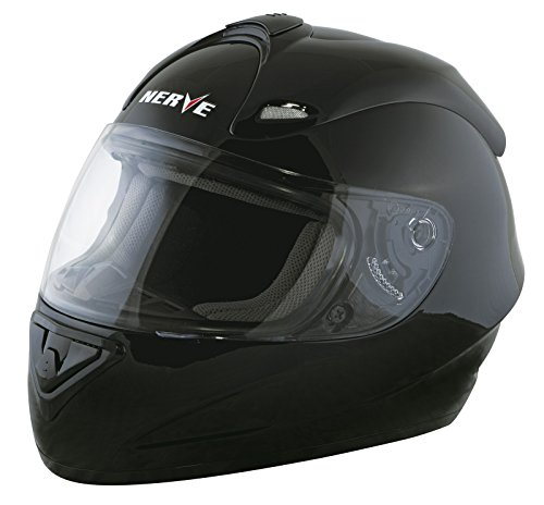 NERVE 1518040304_02 NH2013 Full Face Motorcycle Helmet, Black, Small from Nerve