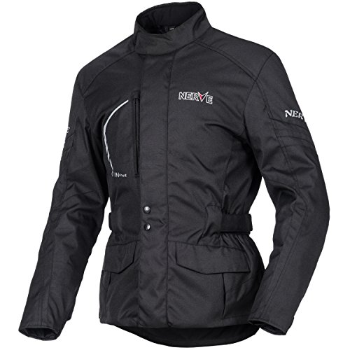 NERVE 21150104_04 Travelling Motorcycle Jacket, Black, Large from Nerve