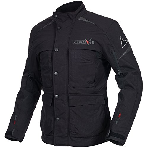 NERVE 21160104_04 Urban Steel Motorcycle Touring Jacket, Large, Black from Nerve