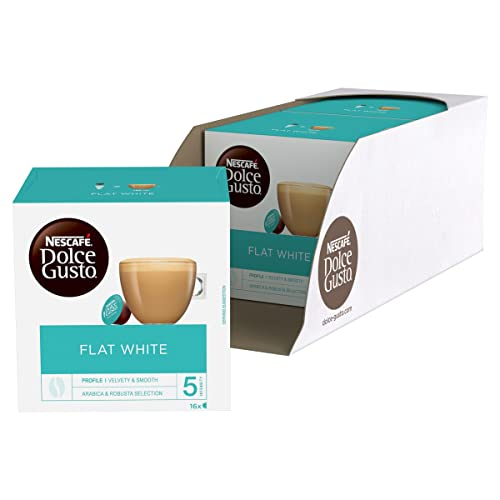 NESCAFÉ Dolce Gusto Flat White Coffee Pods, 16 Capsules (48 Servings, Pack of 3, Total 48 Capsules) from Nescafé Dolce Gusto